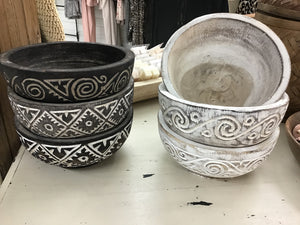 Carved Bowls - Assorted