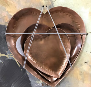 Luxe Heart Set 3 - Copper