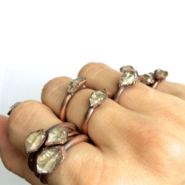 Raw Crystal Copper Ring /1 Ring Only