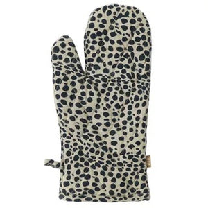 ANIMAL PRINT SINGLE OVEN GLOVE - Navy