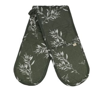 Olive Grove Double Oven Glove - Olive/Mustard