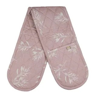 OLIVE GROVE DOUBLE OVEN GLOVE PINK