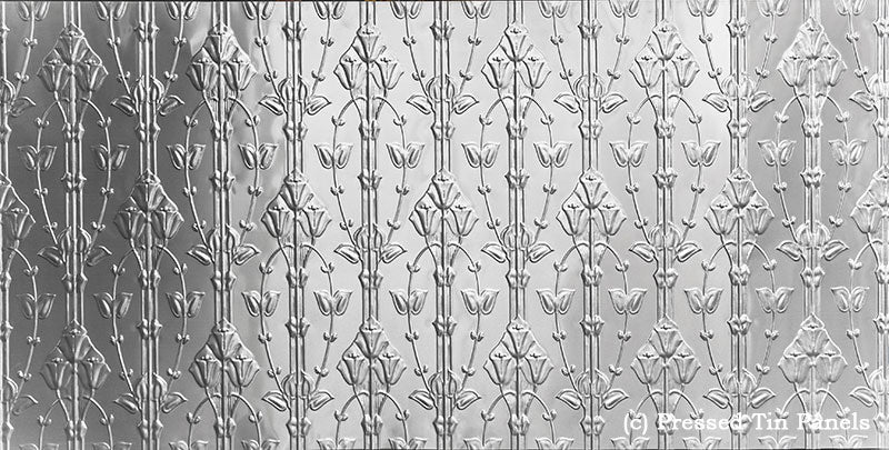 Lilly Pressed Tin Panel