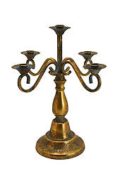 5 Head Antique Gold Candleabra