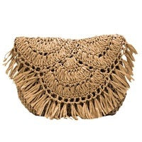 Hand Woven Shoulder Strap Natural- Whitley - 27x3x21