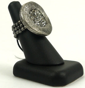 Silver Stone Stretch Ring