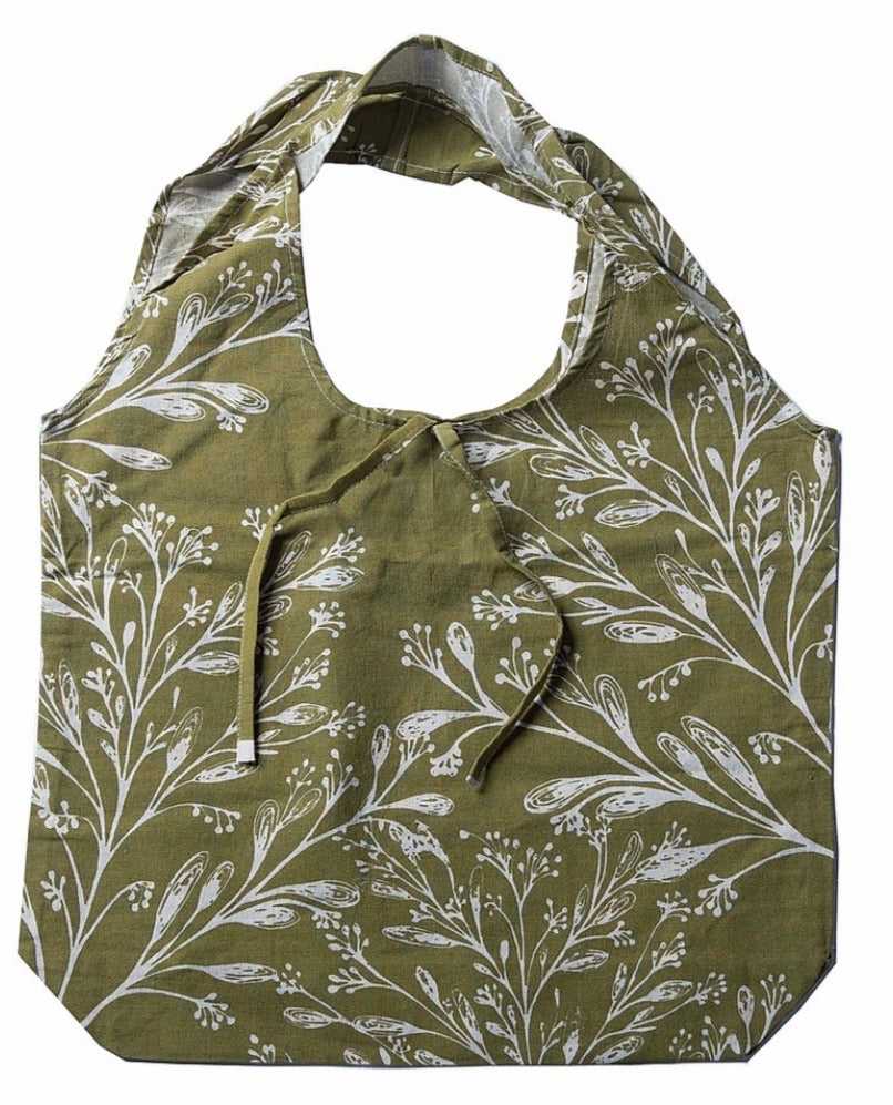 Olive/Cream Shopper