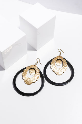 Abbey Earrings Black / Gold