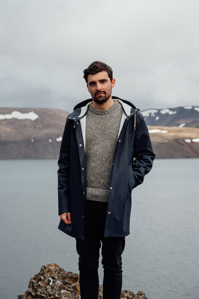 Photographer Max Chesnut in Iceland wearing Outland denim