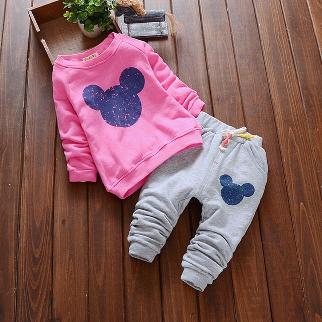 970ce7a01 Baby Girl Clothes Hot sale Baby Clothing Sets Cartoon Printing Sweatshirts  + Pants S 2Pcs for