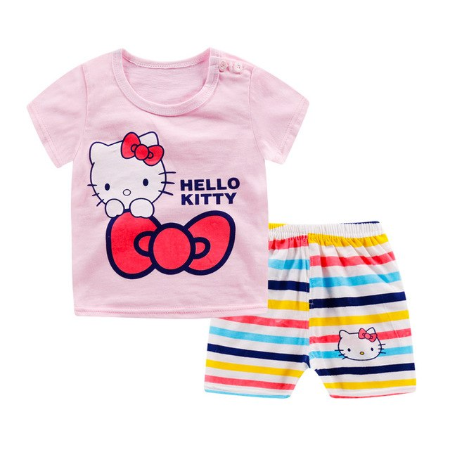 c5c342d36 LYTLM Hello Kitty Girls Outfits Jongens Kleding Girls Clothing Summer 2019  Girl Set Conjunto Infantil Menina