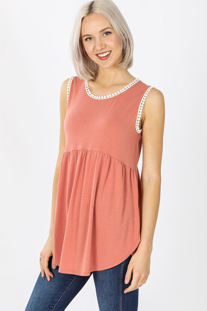Willa Crochet Trim Tank