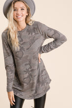 Load image into Gallery viewer, Reagan Camo Tunic Top
