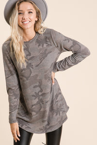 Reagan Camo Tunic Top