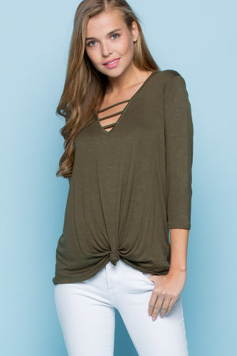 Lauren V Neck Top