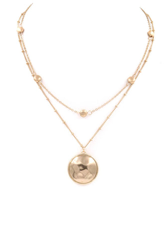 Disc Double Layered Necklace