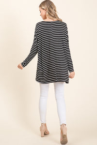 Jessie Striped Tunic Top
