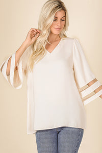 Avery Striped Sleeve Top