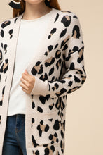 Load image into Gallery viewer, Layla Leopard Open Front Cardigan