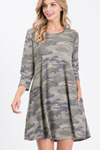 Load image into Gallery viewer, Hailey Camo Dress