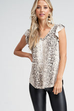 Load image into Gallery viewer, Zoey Snake Print Top