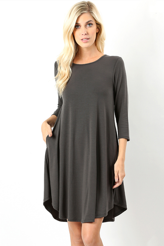 Madison Scoop Hem Dress