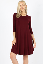 Load image into Gallery viewer, Madison Scoop Hem Dress