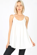 Load image into Gallery viewer, Gabbie Pleated Front Adjustable Tank