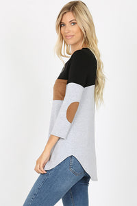 Morgan Patch Sleeve Top