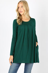 Rylee Pleated Front Top