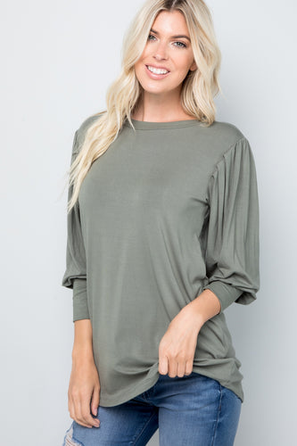 Tessa Pleated Sleeve Top