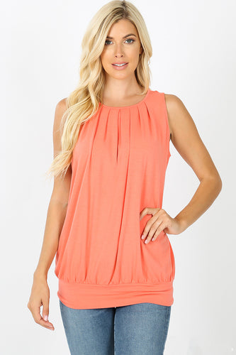 Alea Pleated Front Top