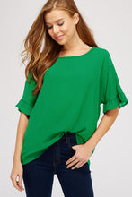 Load image into Gallery viewer, Brielle Ruffle Sleeve Top
