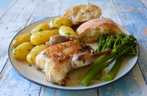 Whole Partridge with White Wine and Tarragon