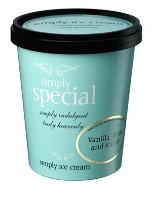 Special Vanilla Rum & Raisin Ice Cream