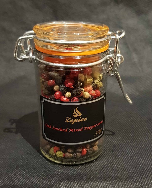 Oak smoked 5 Mixed Peppercorns - Jar