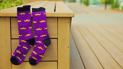 Purple Stache Performance Sock