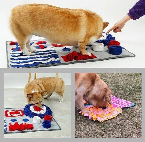 Interactive Pet Snuffle Mat and Feeding Trainer