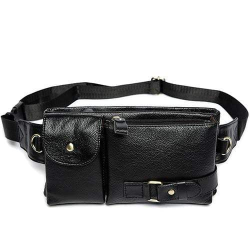 Vintage Style Leather Waist Bag