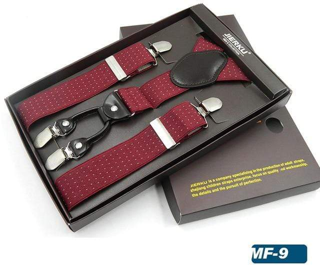 4 Clips Suspenders for Men
