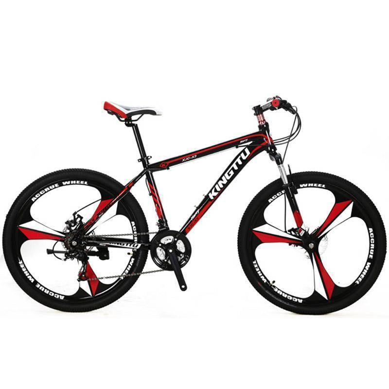 Cyrusher X3 Mans Mountain Bike 26x17 Inch Aluminum Alloy Light Frame Fork Suspension 21 Speed