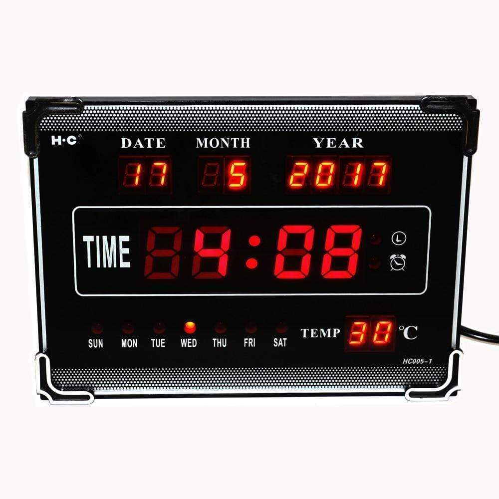 Hourly Chime LED Wall Clock