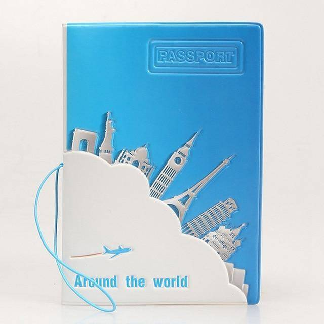 3D Cartoon Passport Cover