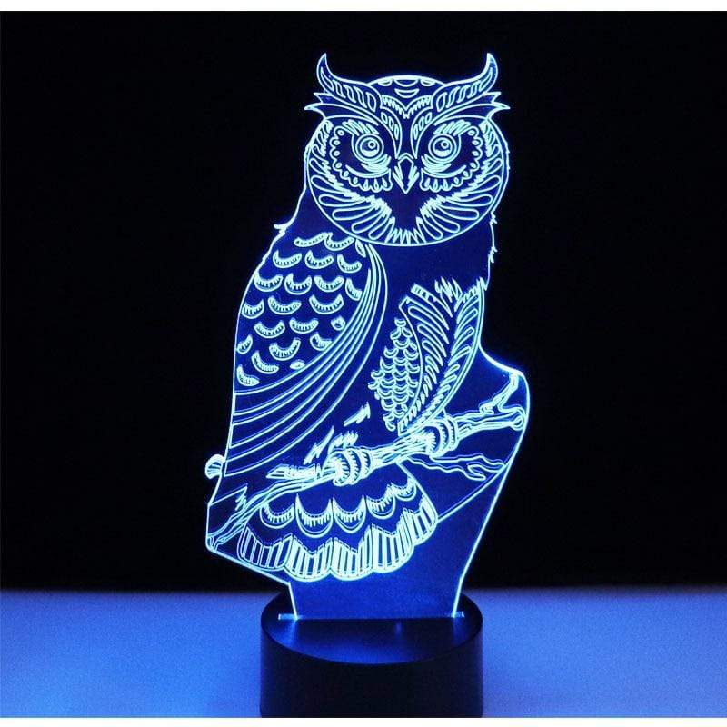 3D Owl LED Night Light