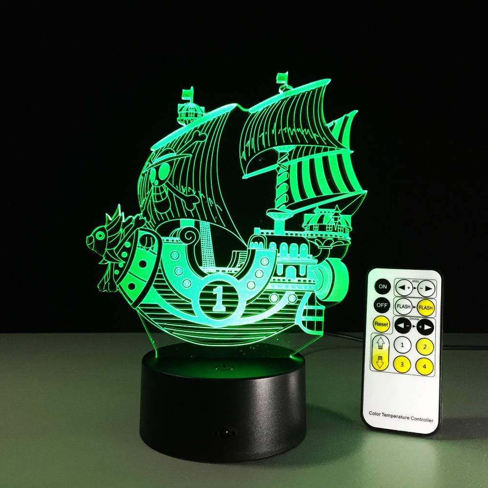 3D Boat LED Night Light