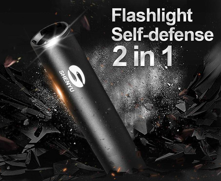 Self Defense Baseball Flashlight Bat