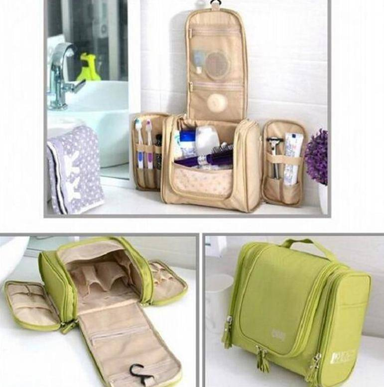 Multi-compartment Toiletry Organizer Travel Bag