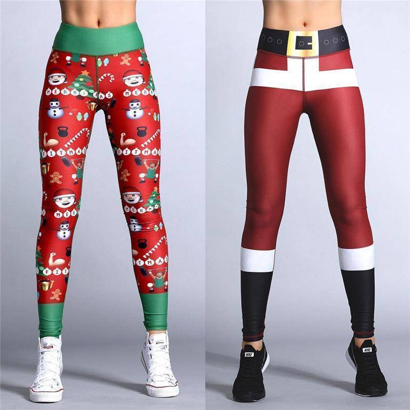 Christmas Theme Print Leggings