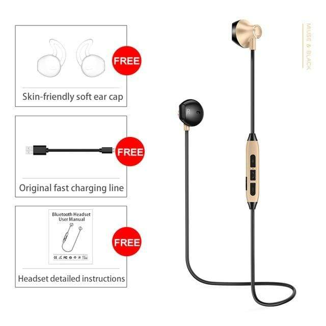 Magnetic Sweatproof Bluetooth Earphone