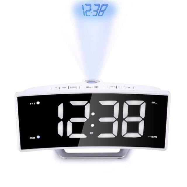 Curved Screen Projection Alarm Clock